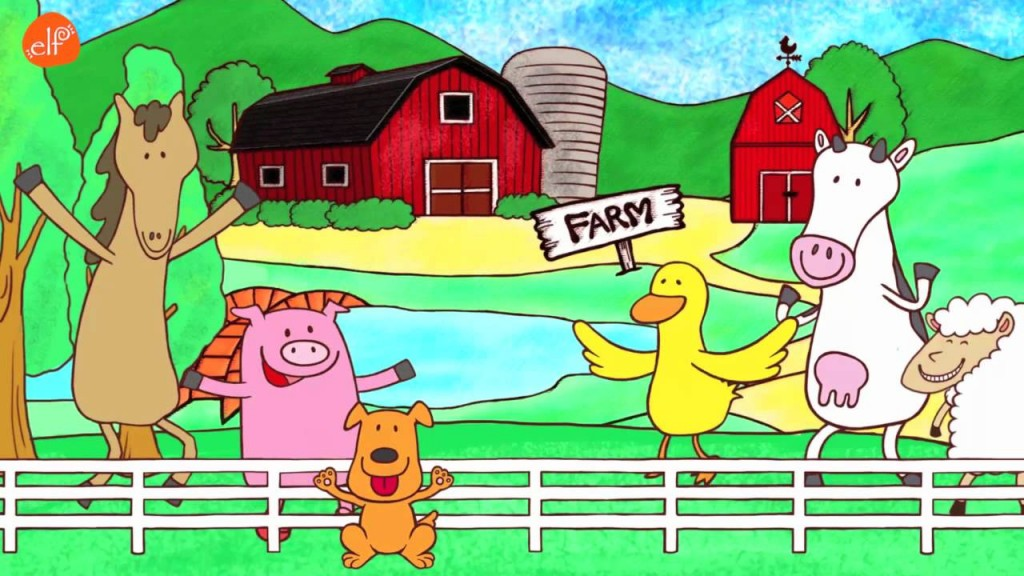 Fun Farm Animals Song! (ELF Kids Videos)