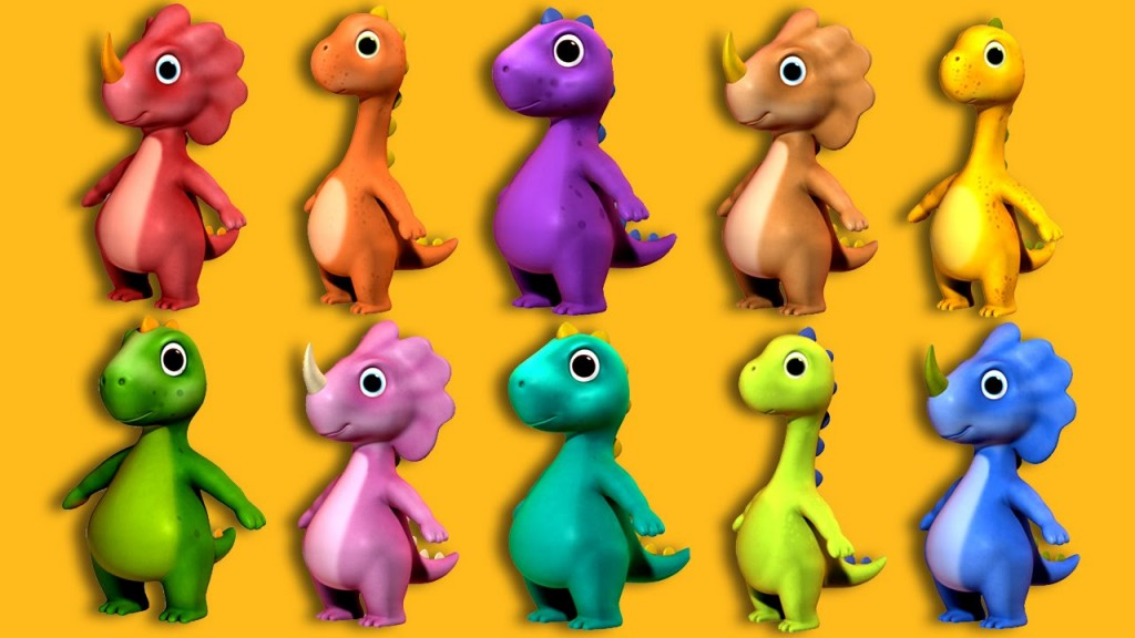 Ten Little Dinosaurs | Nursery Rhymes
